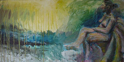 Nude Sky Rest Thought Peace Painting - Painting3 by David Frantz