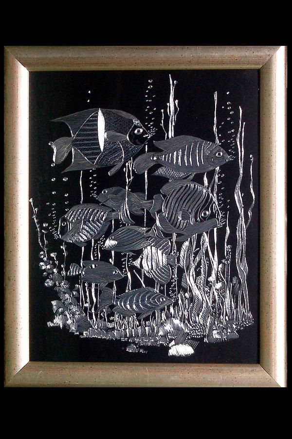 Silver Fishes Painting - Paintings by Darshita Mehta