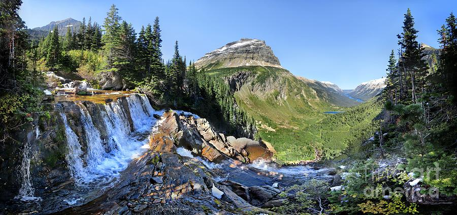 Glacier National Park Photograph - Paiota Falls - Glacier National Park by Bruce Lemons