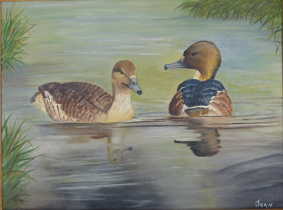 Pair Of Ducks Painting by Joan Taylor-Sullivant