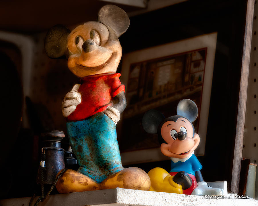 Mickey Mouse Photograph - Pair Of Mickies by Christopher Holmes