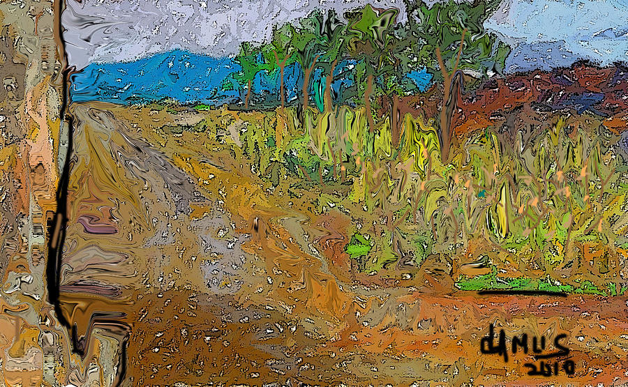 Arte Painting - Paisaje - Chile - Campo 1 by Carlos Camus