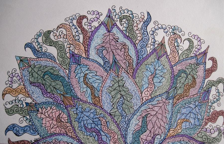 Abstract Drawing - Paisley Fan by Megan Walsh