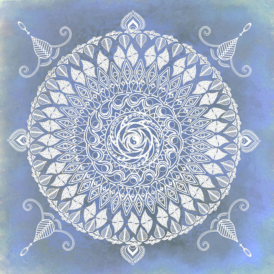 Paisley Moon Henna Mandala by Deborah Smith