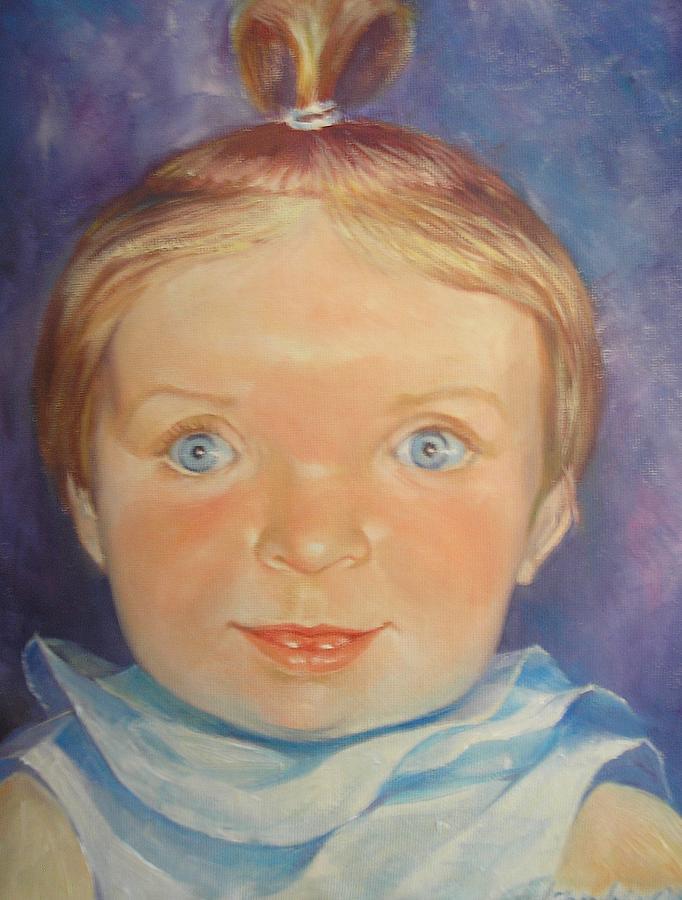 Portrait Painting - Paiton by Oksana Franklin