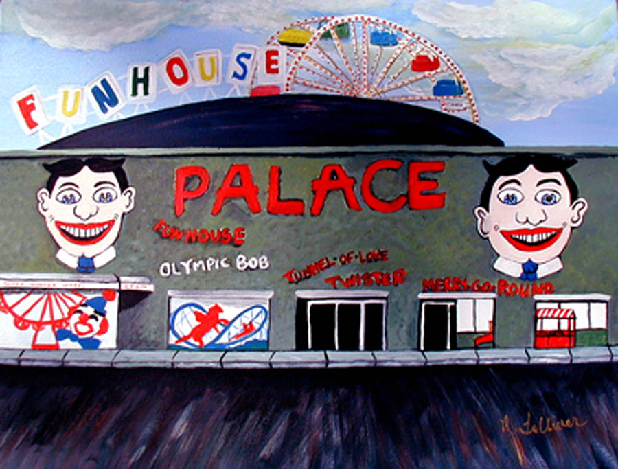 Tillie Painting - Palace Amusements Asbury Park Nj by Norma Tolliver