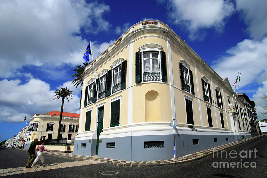 Corner Photograph - Palace In Azores by Gaspar Avila