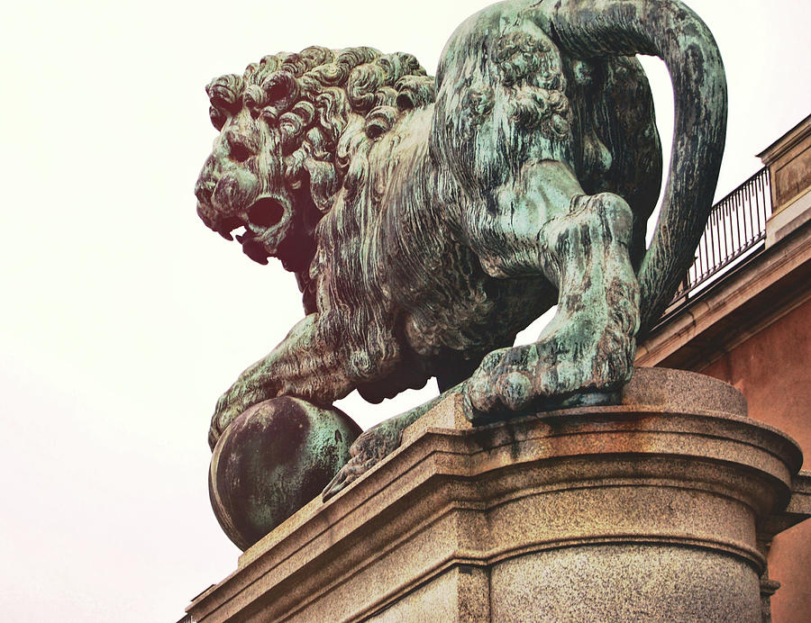 Sweden Photograph - Palace Lion by JAMART Photography