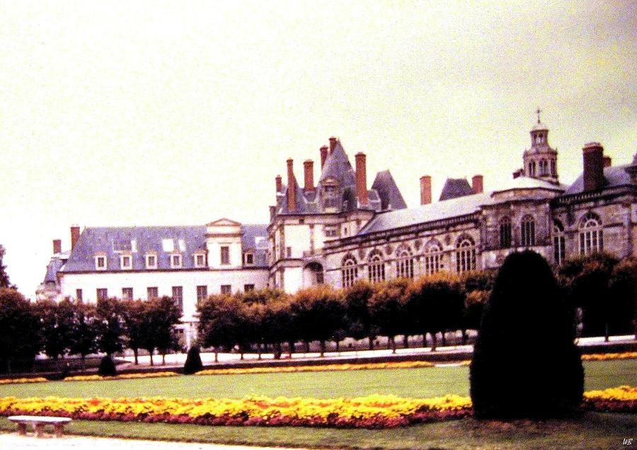 1955 Photograph - Palace Of Fontainebleau 1955 by Will Borden