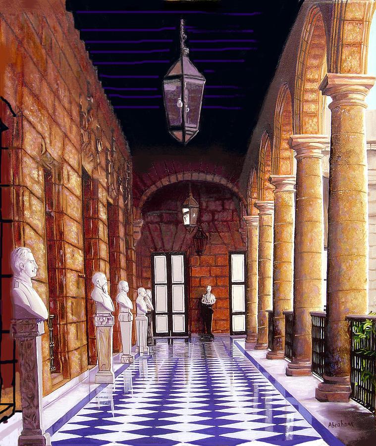 Palacio Painting by Jose Manuel Abraham