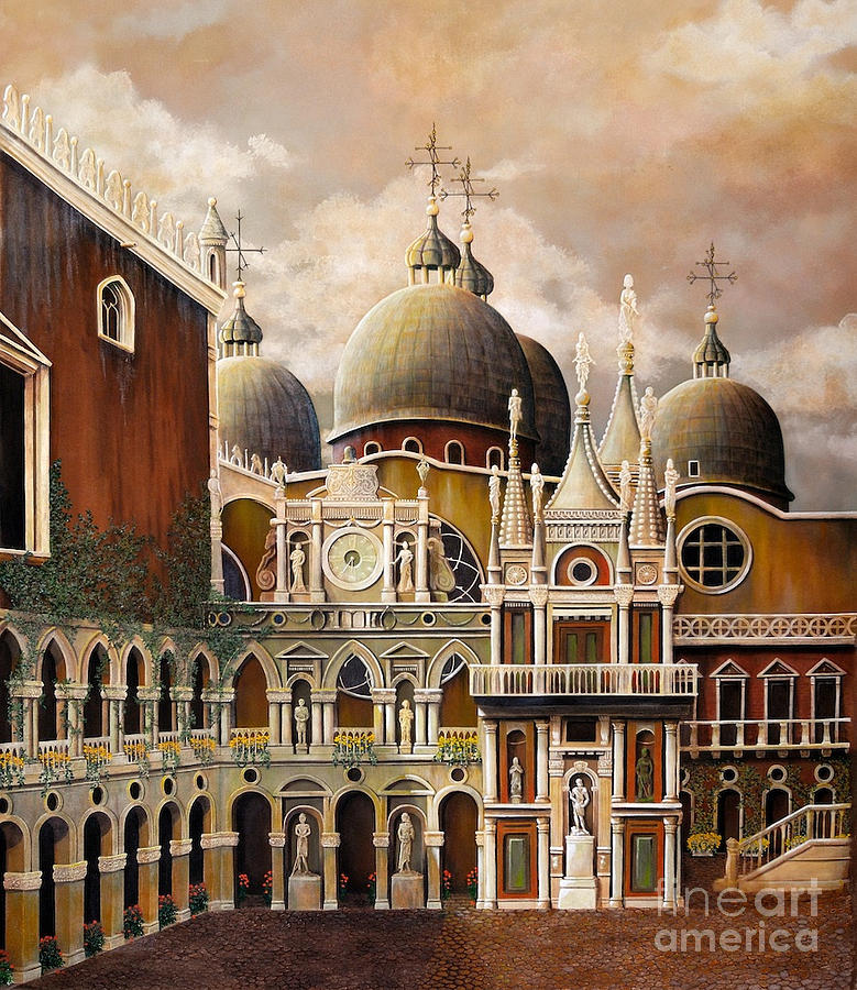 Architectural Painting - Palazzo Ducale by Pamela Roehm