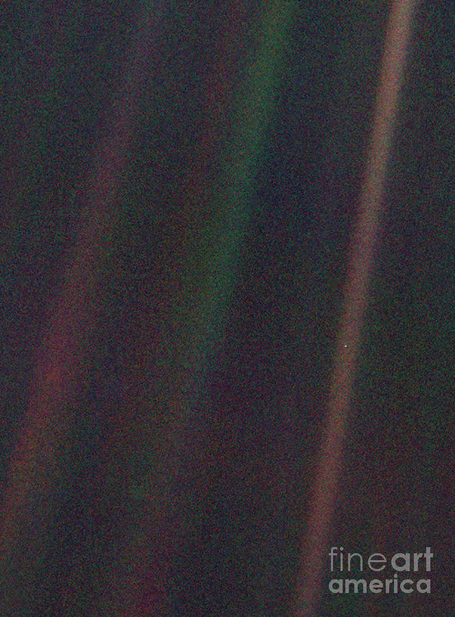 Pale Blue Dot Voyager 1 Image Photograph By Science Photo