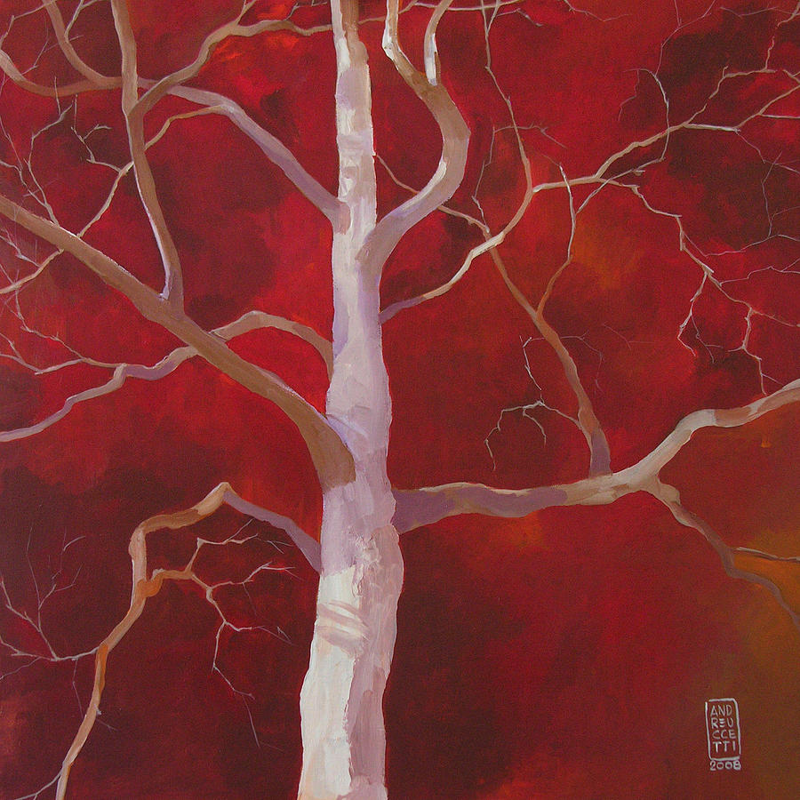 Tree Painting - Pale shade of winter by Alessandro Andreuccetti