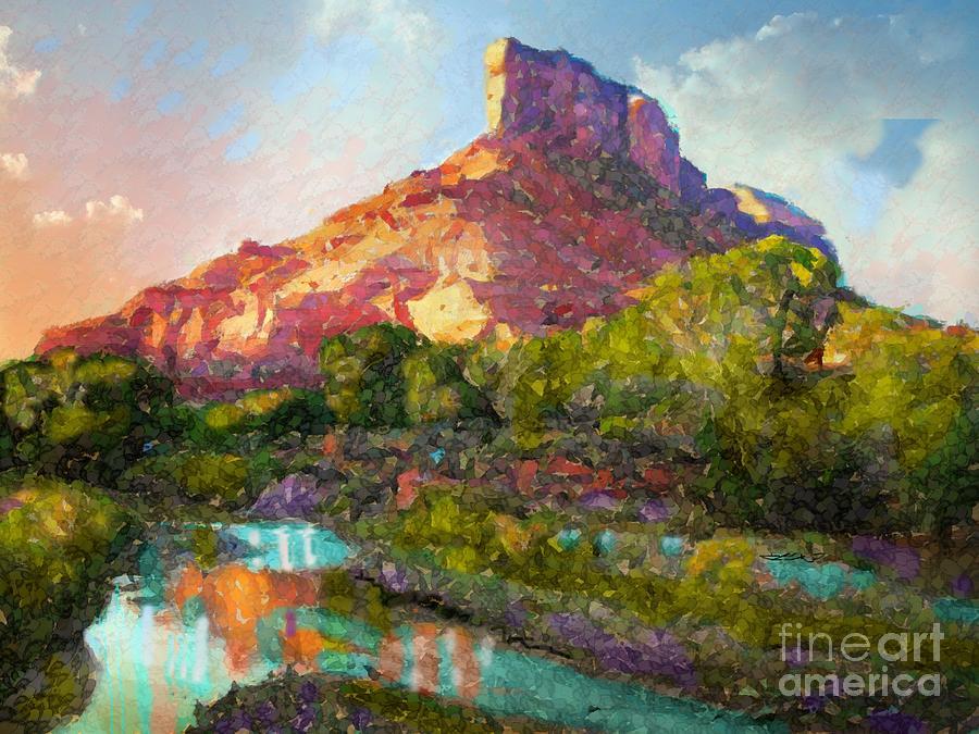 Palisade at Gateway Colorado Digital Art by Annie Gibbons