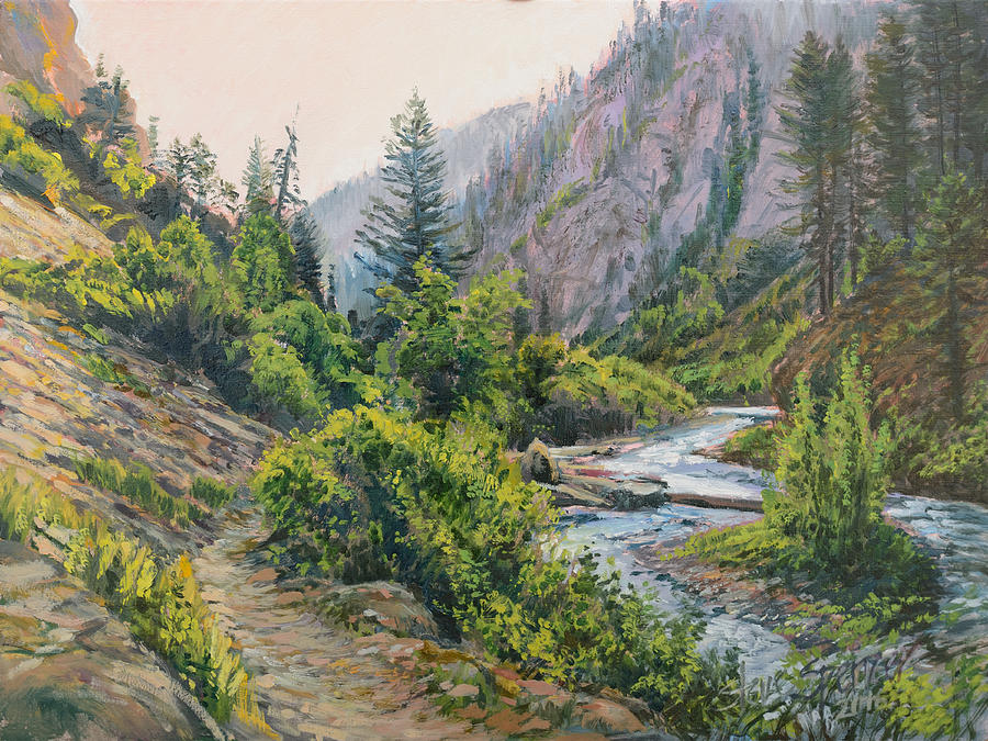 Mountains Painting - Palisades Creek  by Steve Spencer