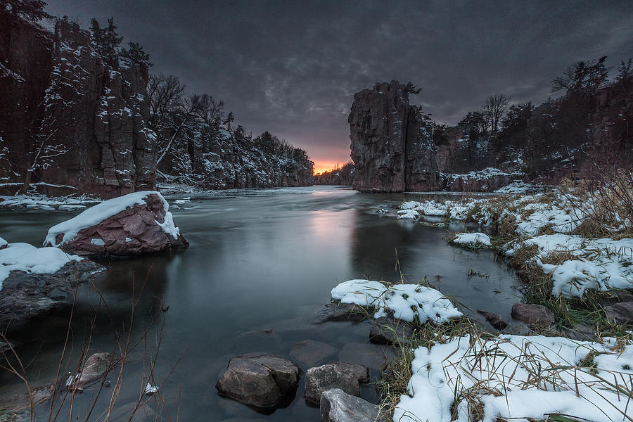 Sunset Photograph - Palisades First Snow by Aaron J Groen