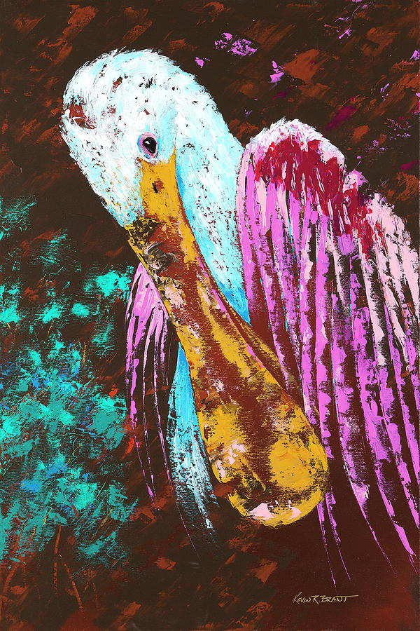 Pallet Knife Spoonbill by KEVIN BRANT