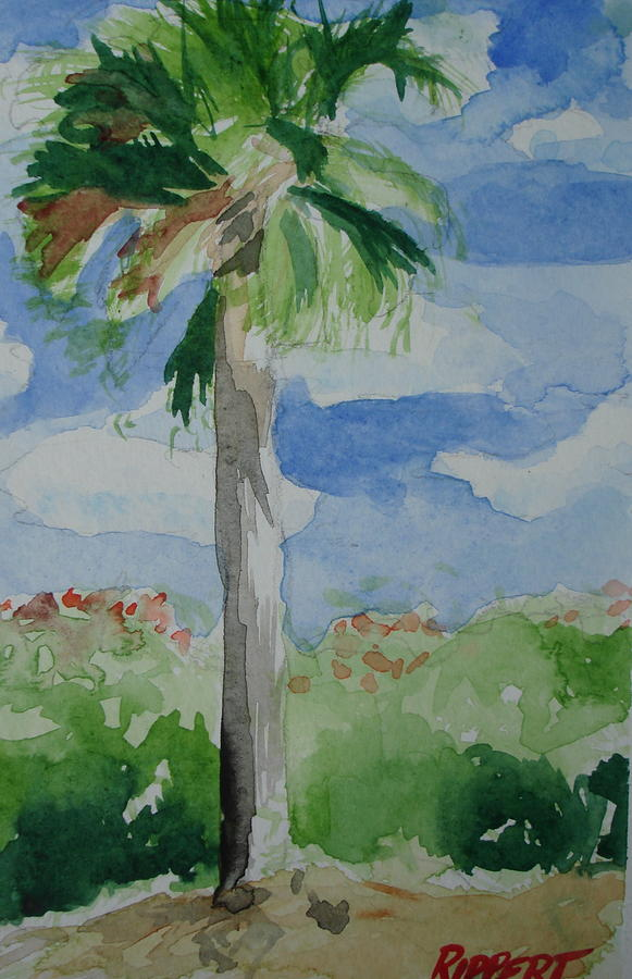 Seascape Painting - Palm 2 by Heather Rippert