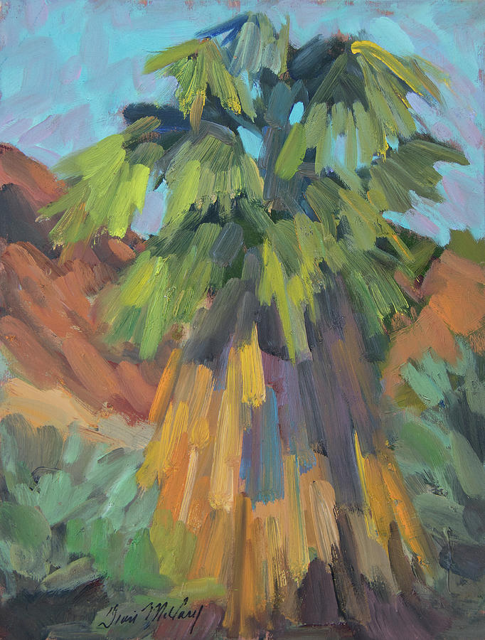 Palm Painting - Palm At Santa Rosa Mountains Visitors Center by Diane McClary
