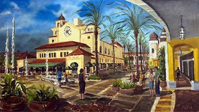 City Center Print - Palm Beach City Place by Ralph Papa