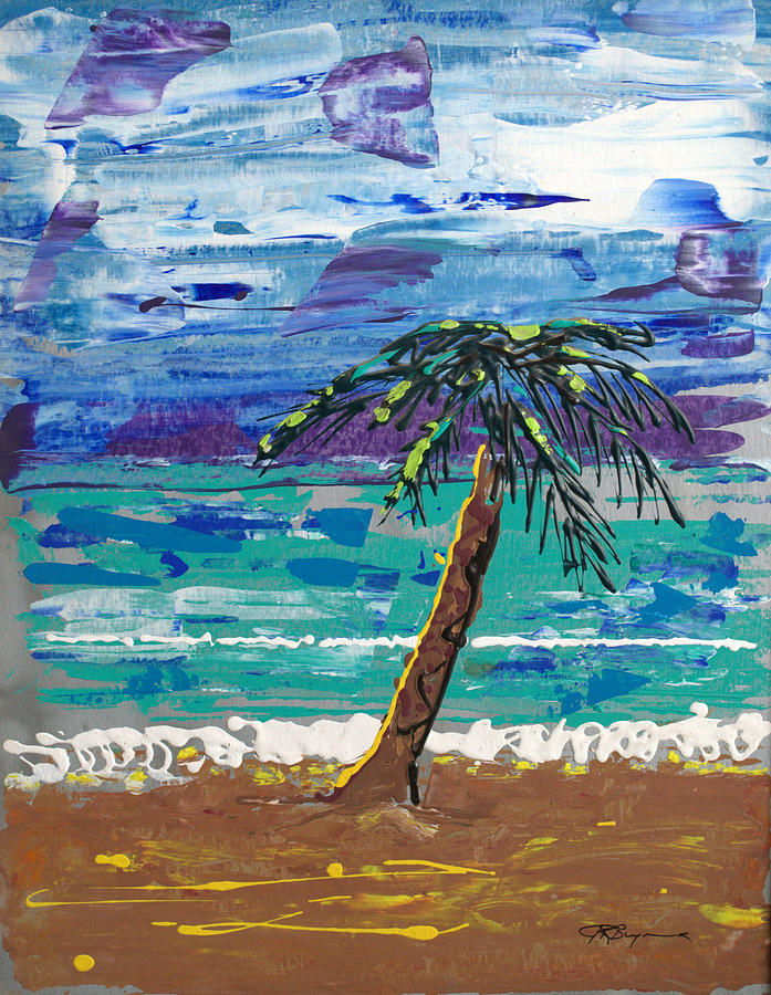 Palm Tree Painting - Palm Beach by J R Seymour