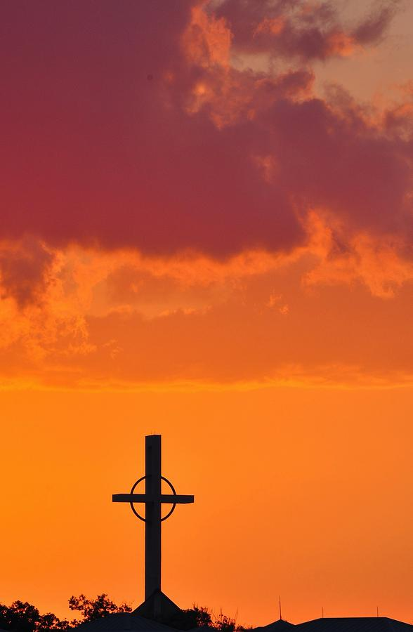 Religious Symbol Photograph - Palm Beach Sunset by Amy Spear