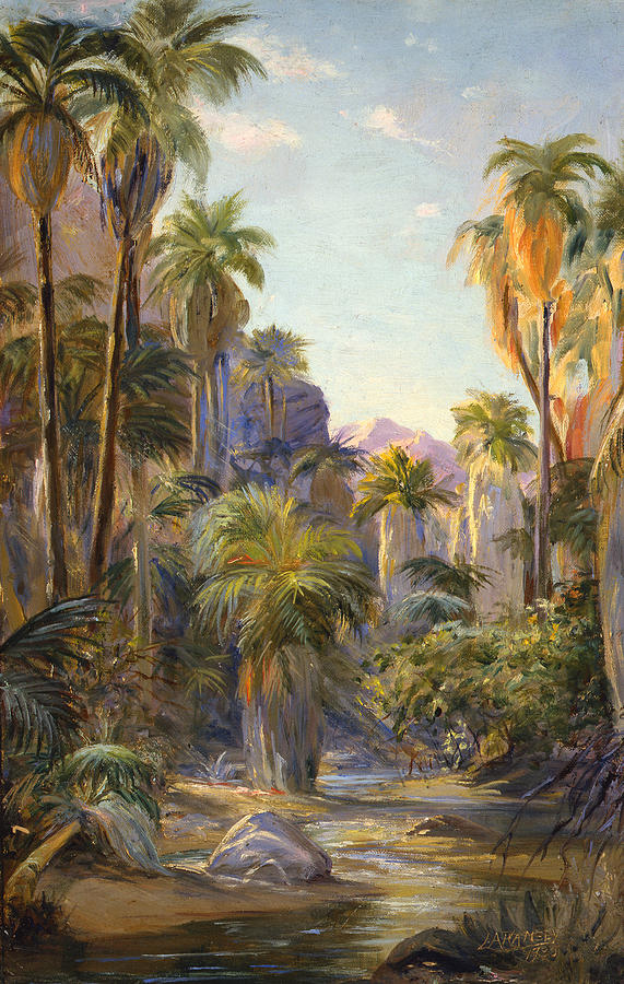 Canyons Painting - Palm Canyon by Lewis A Ramsey