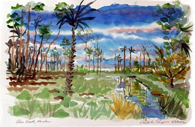 Palm Coast Painting - Palm Coast 02b by Ralph Papa