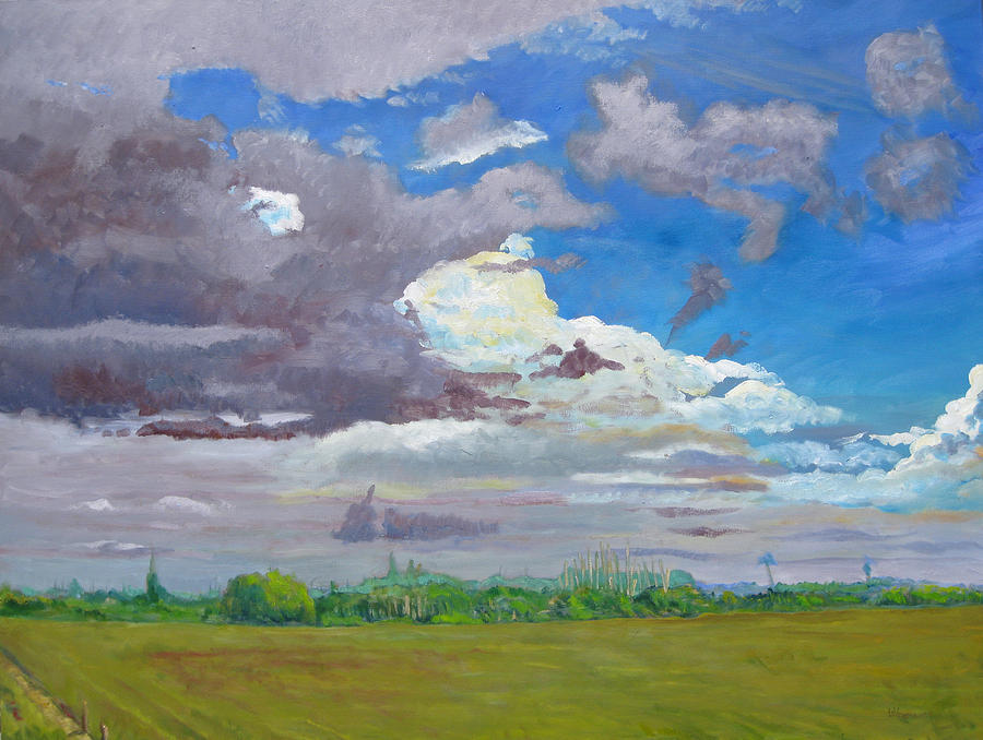 Landscape Painting - Palm Coast Florida Clouds Series II by D T LaVercombe