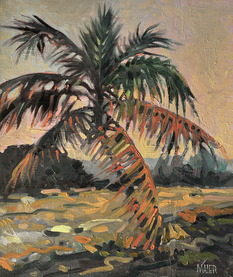 Oil Painting - Palm by Donald Maier