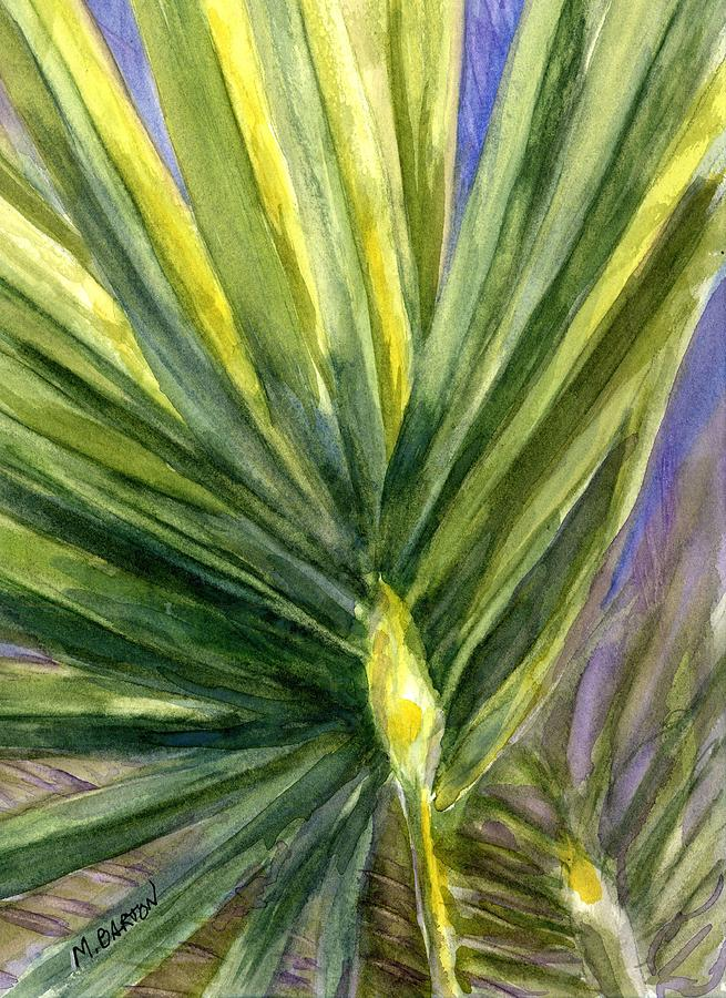 Palm Painting - Palm Frond by Marilyn Barton