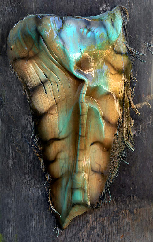Painted Palm Frond Painting - Palm Frond Patina Brass by Craig Incardone