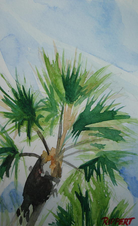 Seascape Painting - Palm by Heather Rippert