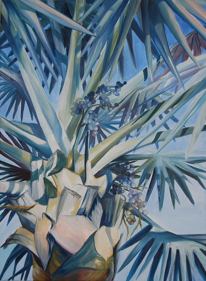 Tree Painting - Palm by Katherine  Fyall