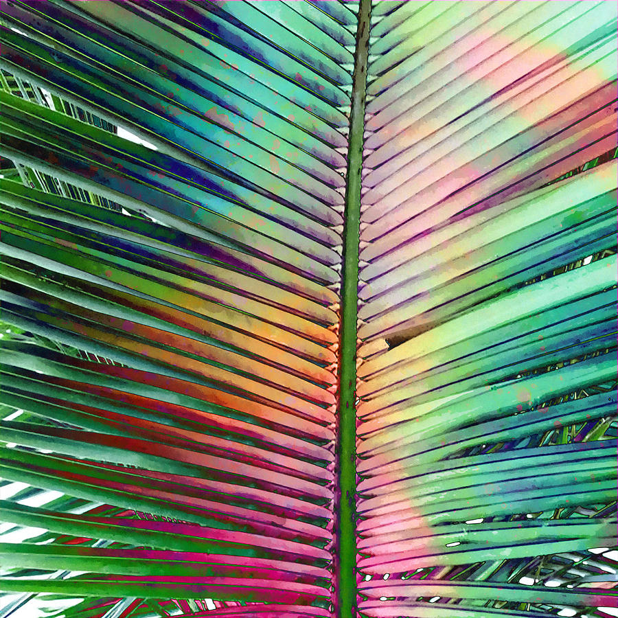 palm leaf mixed media by stacey chiew