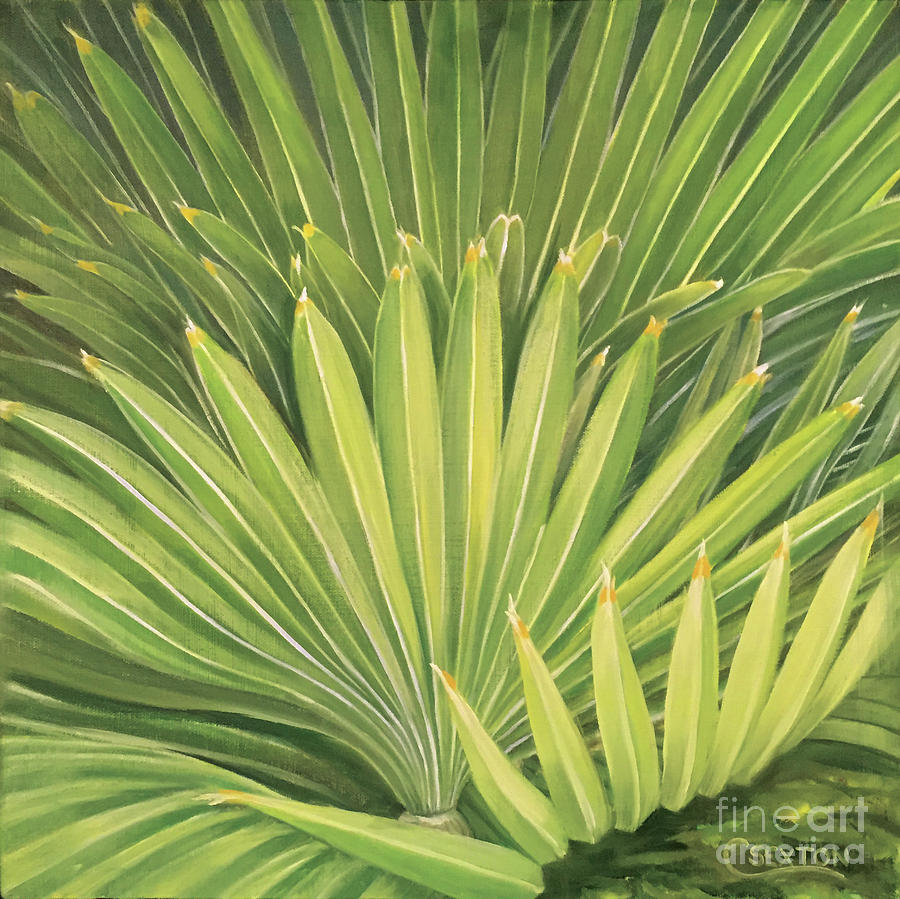 Palm Leaves Painting by Carol Sexton
