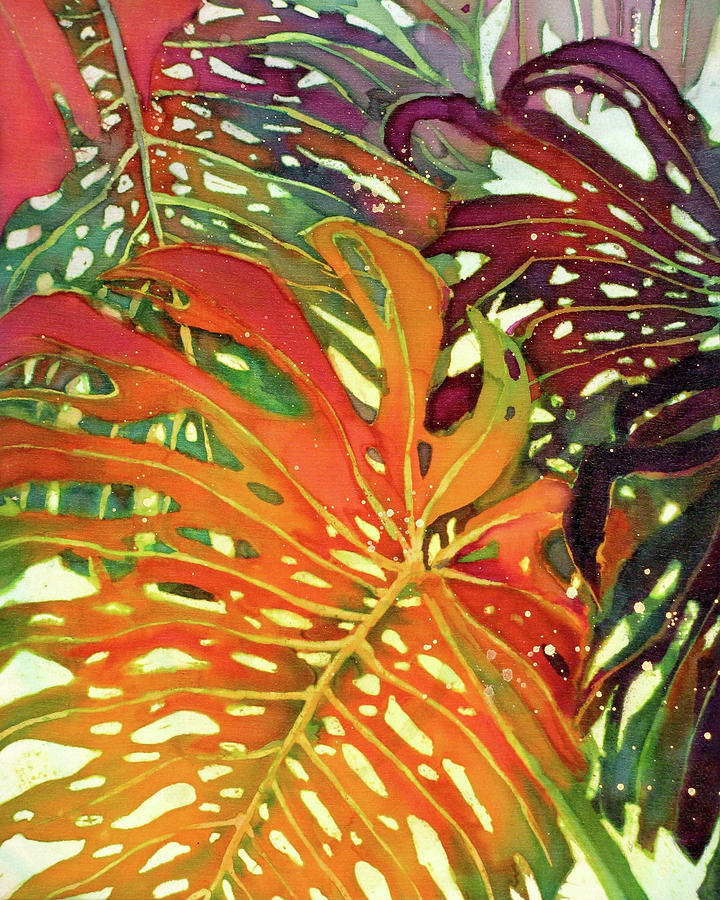 Palm Leaves Painting - Palm Patterns 2 by Deborah Younglao