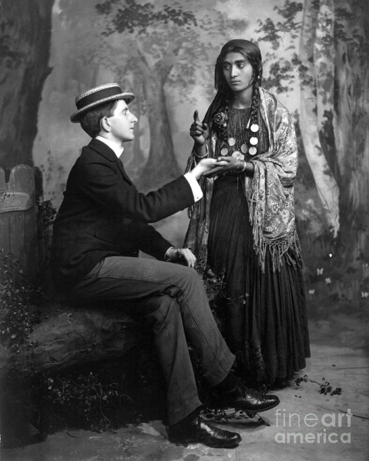 1910 Photograph - Palm-reading, C1910 by Granger