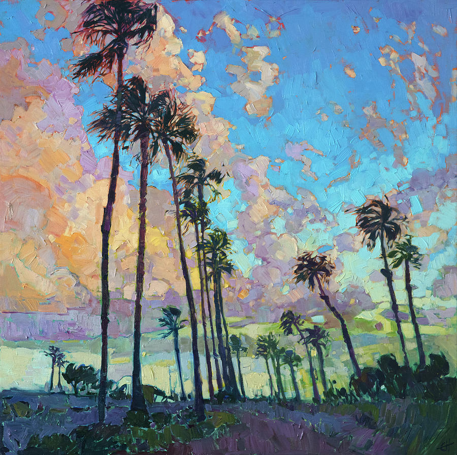 Palm Sky Painting By Erin Hanson