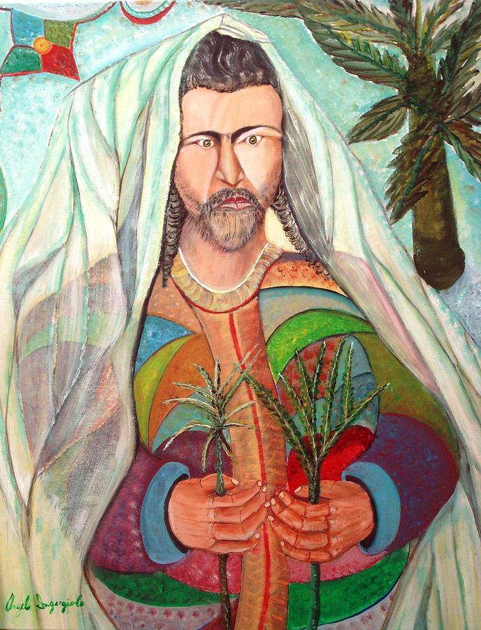 Jesus Painting - Palm Sunday by Angelo Ingargiola