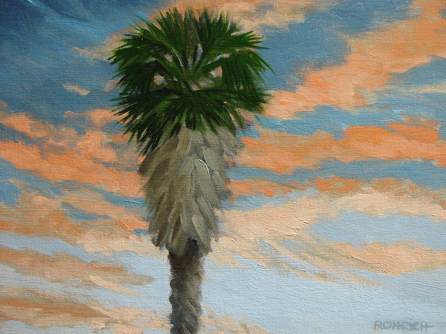 Landscape Painting - Palm Sunrise by Robert Rohrich