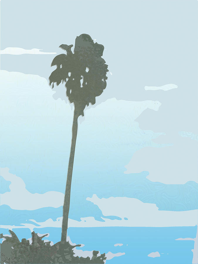 Graphic Design Digital Art - Palm Tree at Beach by Poster Book