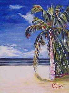 Palm Tree Painting - Palm Tree by C D  Collins