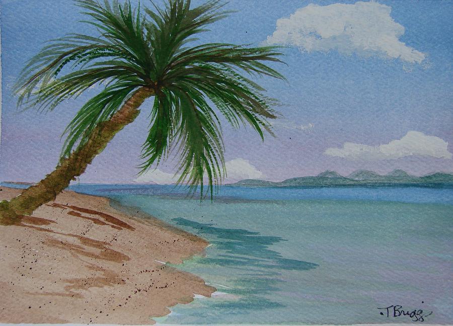 palm tree painting by dottie briggs