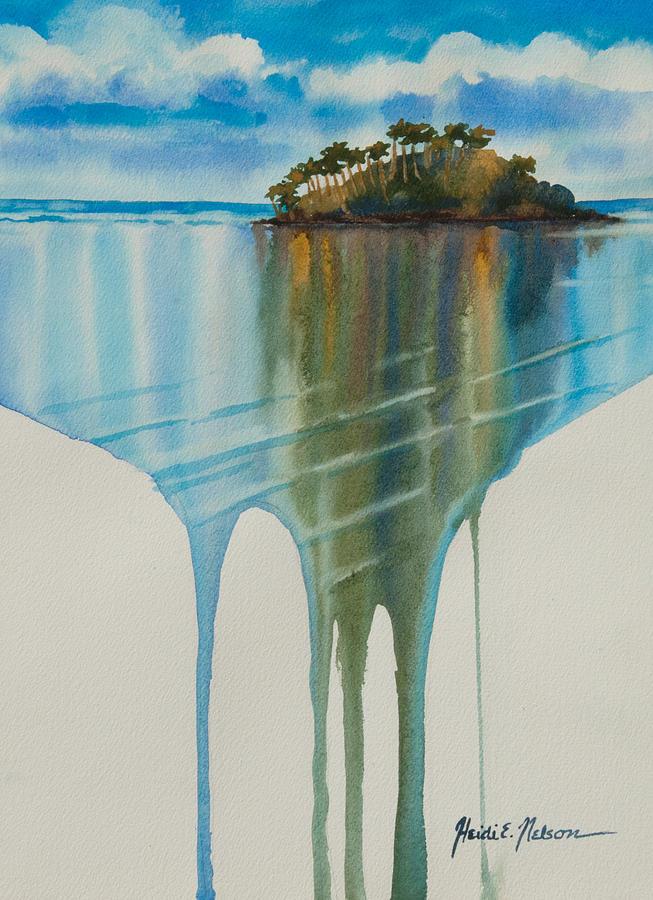 Palm Tree Drip by Heidi E Nelson