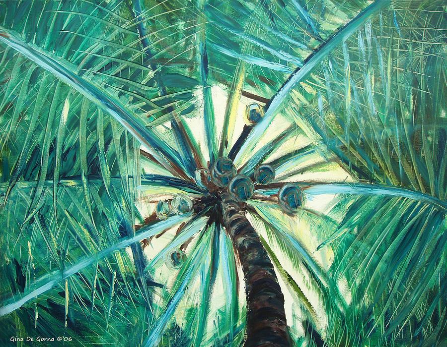 Palm Tree Painting - Palm Tree by Gina De Gorna