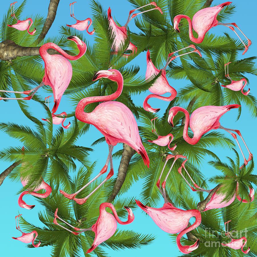 Summer Digital Art - Palm tree by Mark Ashkenazi