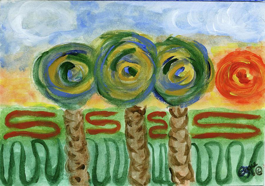 Palm Trees on my Mind by Stephanie Agliano