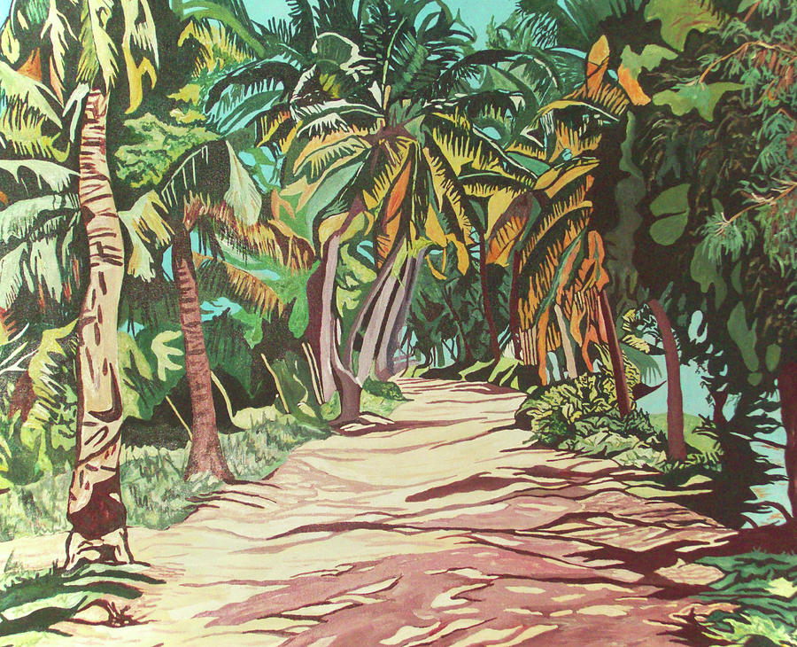 Palm Trees Painting - Palm Trees by Valentine Magutsa