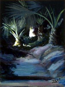 Plein Air Painting - Palm Walk by Darr Sandberg